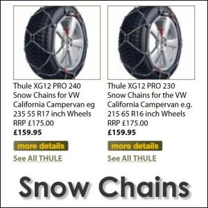 VW California Snow Chains