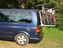 VW T5 California SE & Beach Caravelle etc Tailgate Bike Rack, holds 4 bikes (Comes fully assembled,
