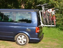 SOLD VW T5 California SE & Beach Caravelle etc Tailgate Bike Rack, holds 4 bikes